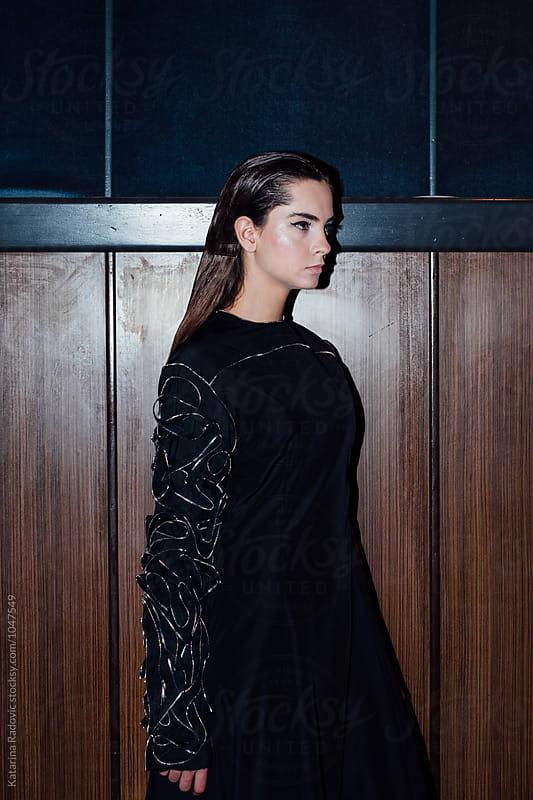 Beautiful Fashion Model Posing in a Dress by Katarina Radovic for Stocksy United