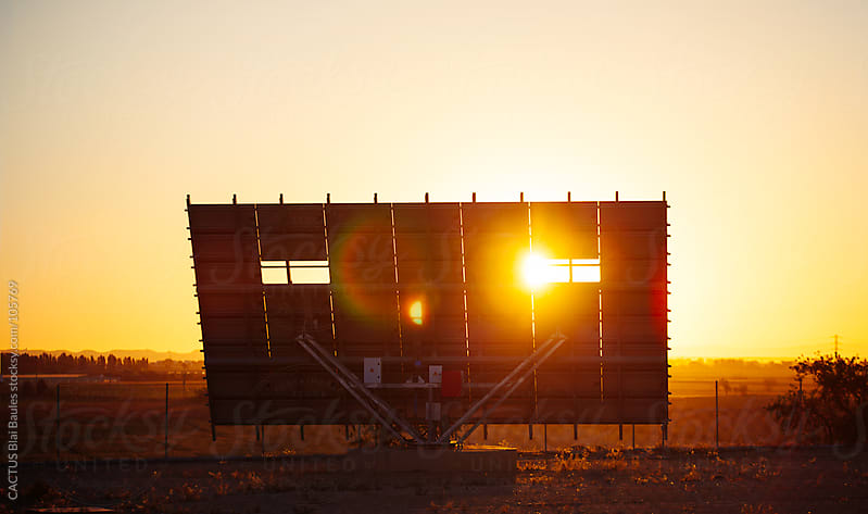 Solar panels in the sunlight by CACTUS Blai Baules for Stocksy United