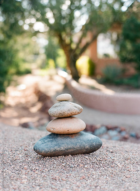 Stacked stones by Ali Harper for Stocksy United