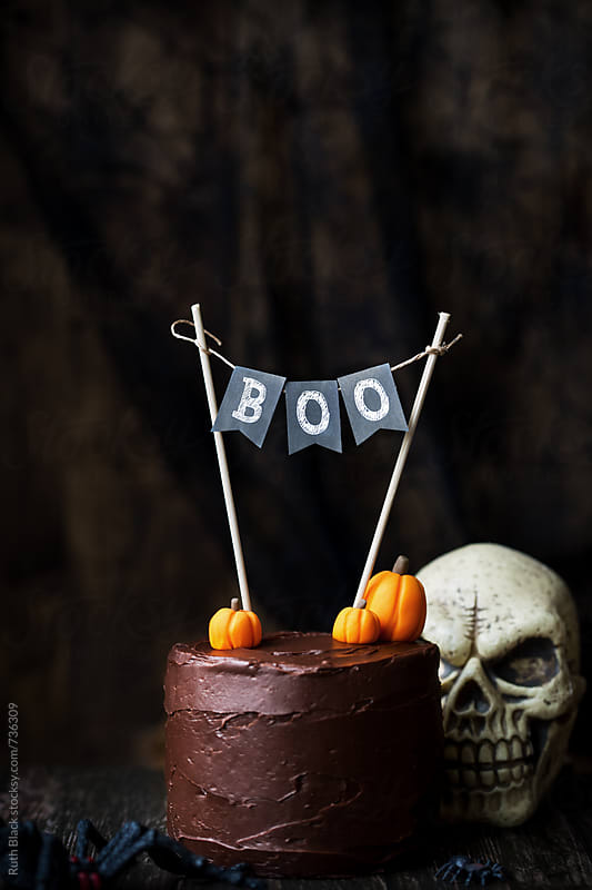 Halloween cake by Ruth Black for Stocksy United