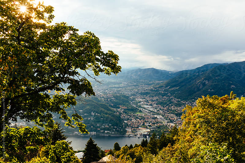View from Brunate overlooking Lake Como, Italy by Gary Radler Photography for Stocksy United
