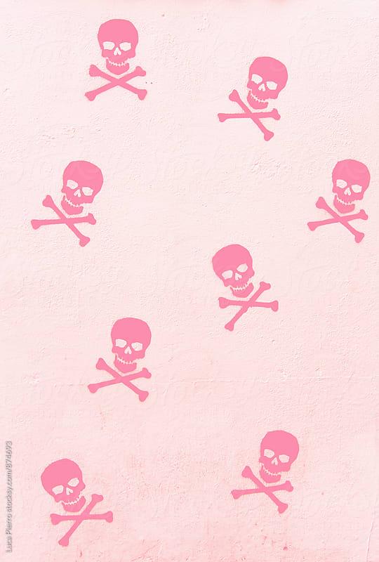 Pink skulls pattern by Luca Pierro for Stocksy United