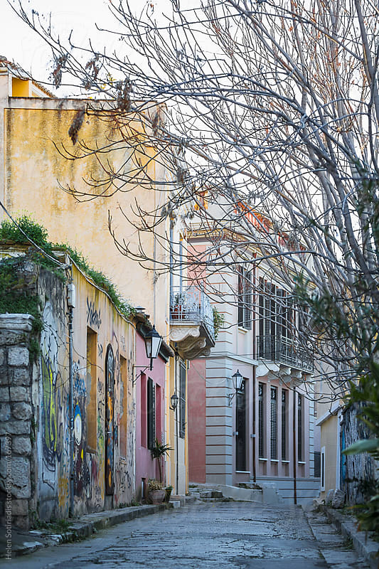 A Street in Athens by Helen Sotiriadis for Stocksy United