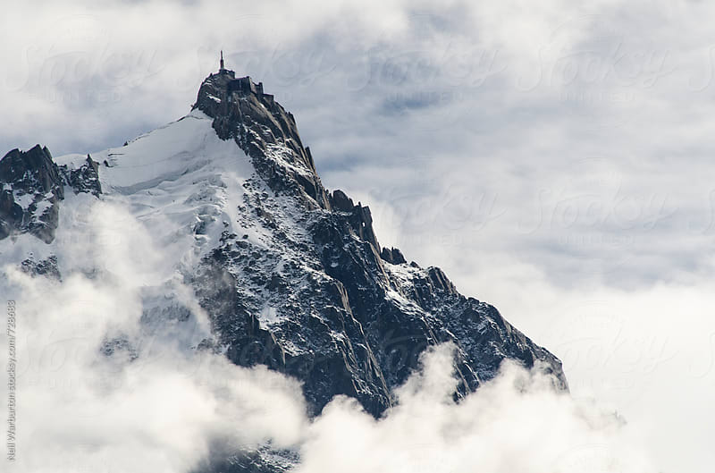 Aiguille du Midi in the French alps by Neil Warburton for Stocksy United