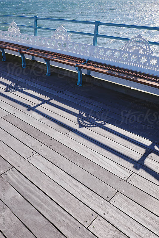 Seating on Mumbles Pier. Wales, UK. by Liam Grant for Stocksy United