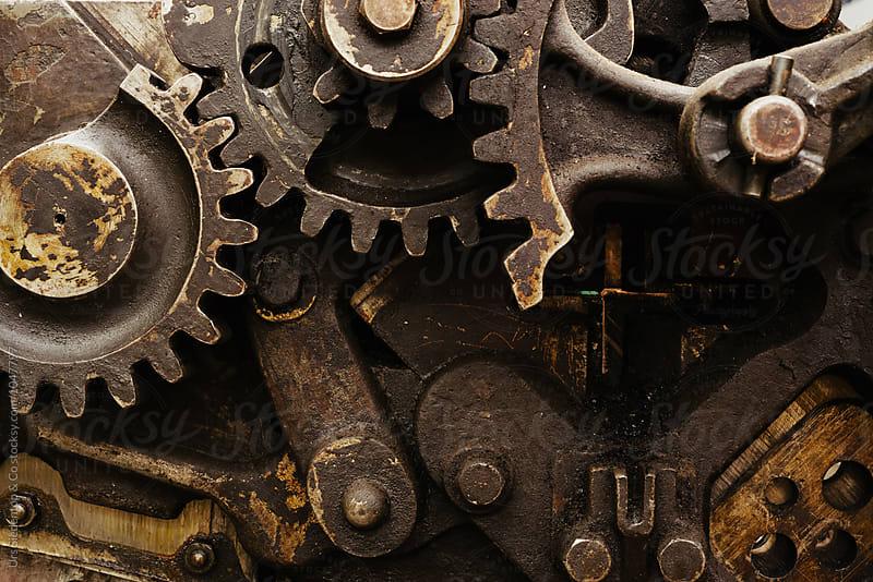 Gear wheel background by Urs Siedentop & Co for Stocksy United
