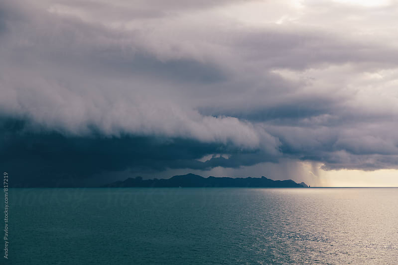 Beautiful seascape with stormy clouds above the sea by Andrey Pavlov for Stocksy United