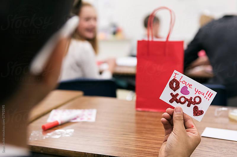 stock photo: school valentine