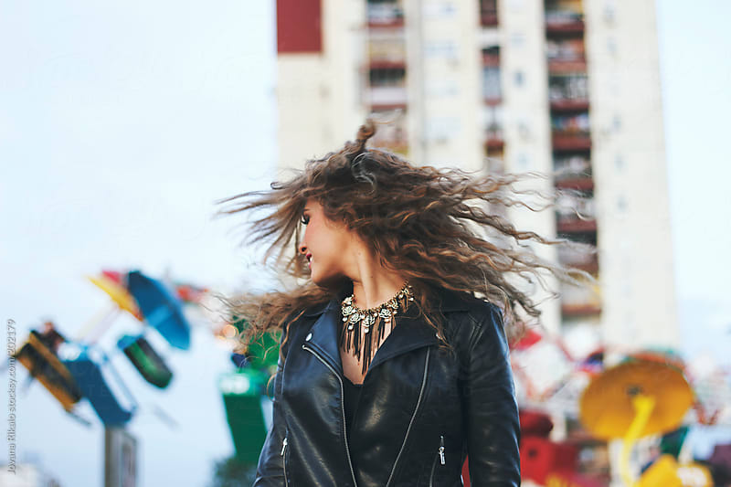 Beautiful  Woman with Hair Flying by Jovana Rikalo for Stocksy United