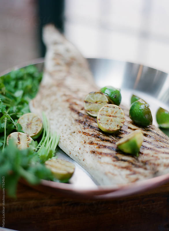 Lime Seared Fish Fillet by Marta Locklear for Stocksy United