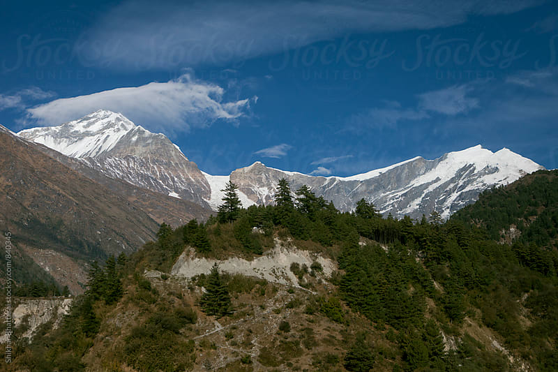 The Dhaulagiri Tukuche range in Mustang. by Shikhar Bhattarai for Stocksy United