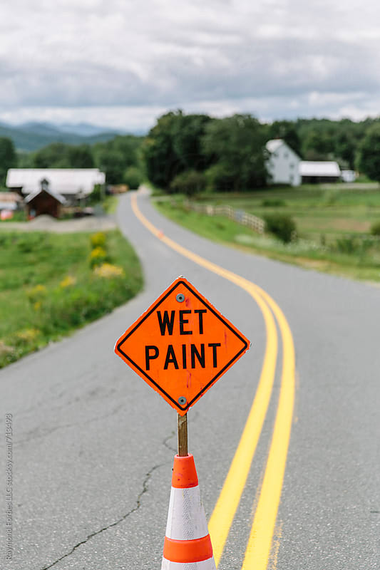 Wet Paint in Vermont by Raymond Forbes LLC for Stocksy United