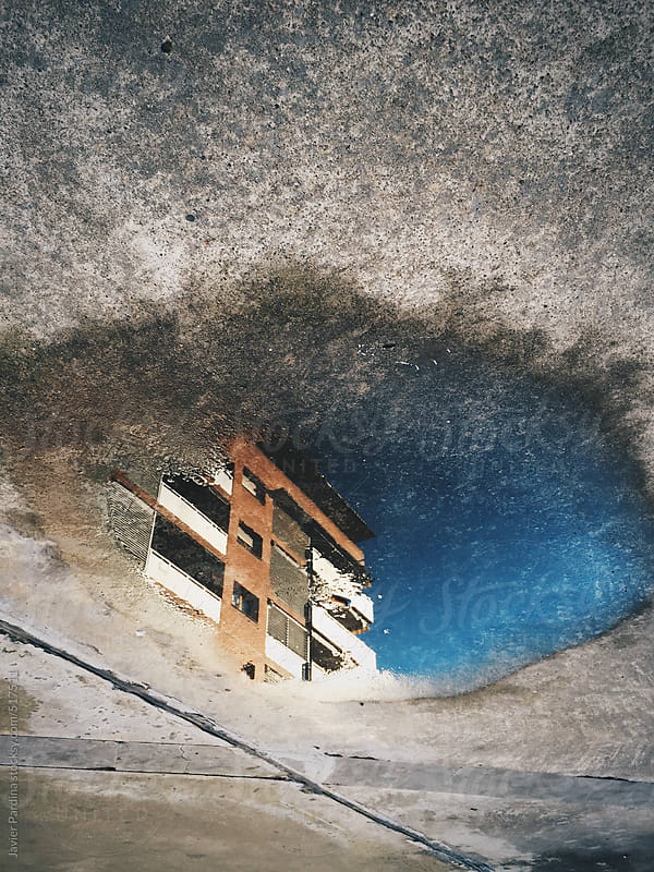 building reflect on a water by Javier Pardina for Stocksy United