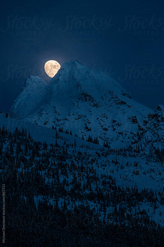 Moonrise by Michael Overbeck Photography for Stocksy United