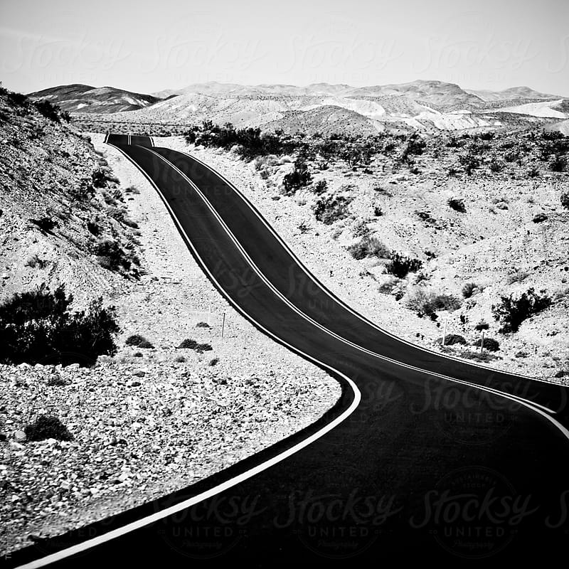 Road in Death Valley by Thomas Hawk for Stocksy United