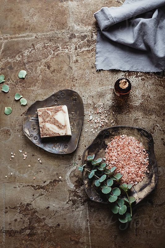 Himalayan pink salt by Tatjana Ristanic for Stocksy United