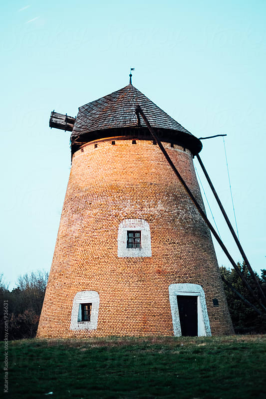 Old and Ruined Windmill by Katarina Radovic for Stocksy United