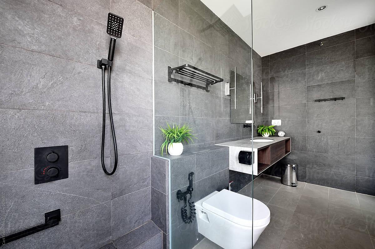 . Beautifully designed home washroom by Carli Teteris   Contemporary
