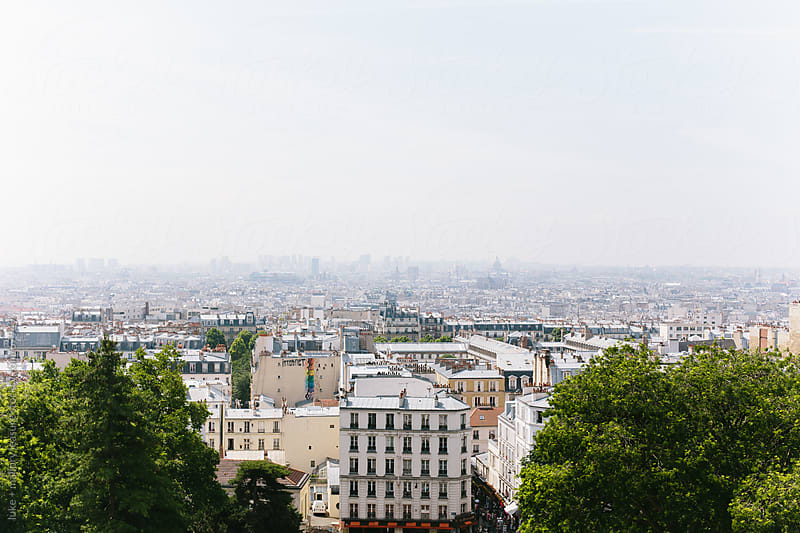 Paris City Scape by luke + mallory leasure for Stocksy United