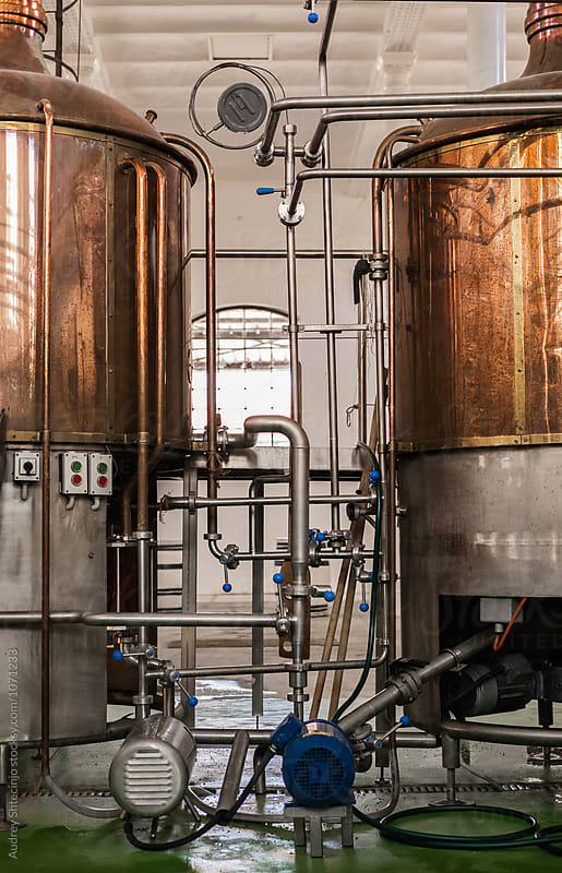 Old brewery complex /beer making process by Marko Milanovic for Stocksy United