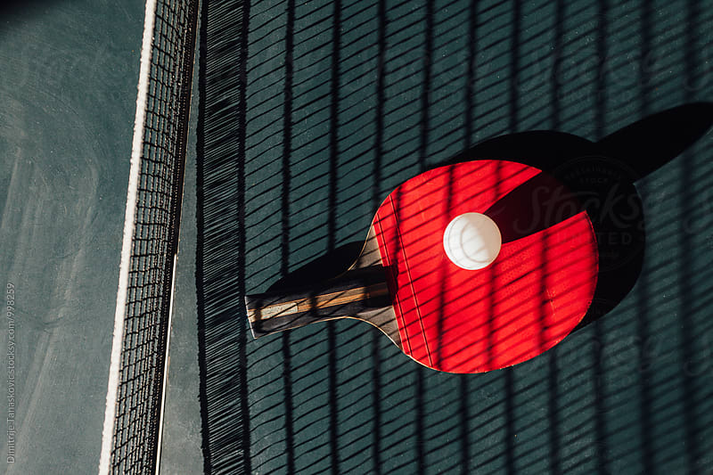 Ping pong racket by Dimitrije Tanaskovic for Stocksy United