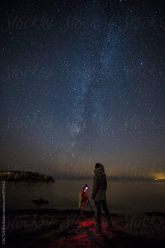 Photographing the Milky Way by Blai Baules for Stocksy United