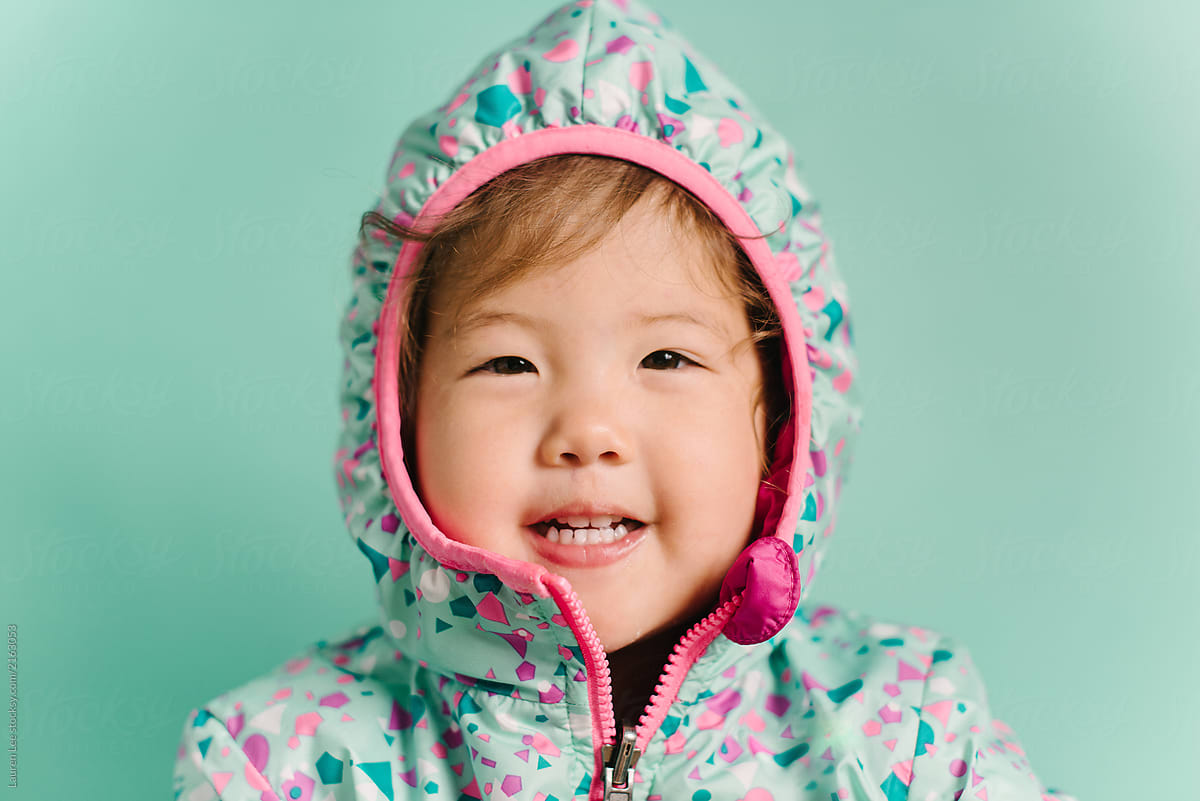 cute kid in jacket | stocksy united