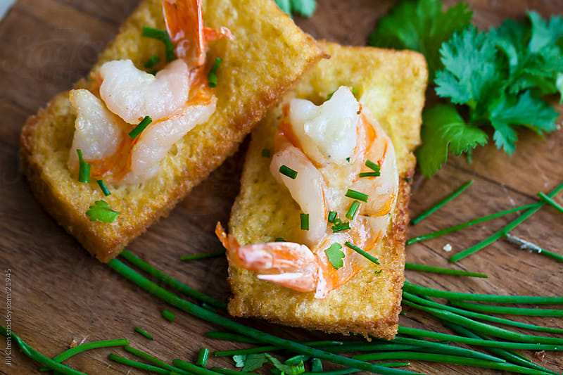 Shrimp Toast Appetizer by Jill Chen for Stocksy United