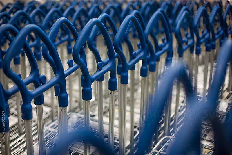 Rows of Shopping Carts by Lumina for Stocksy United