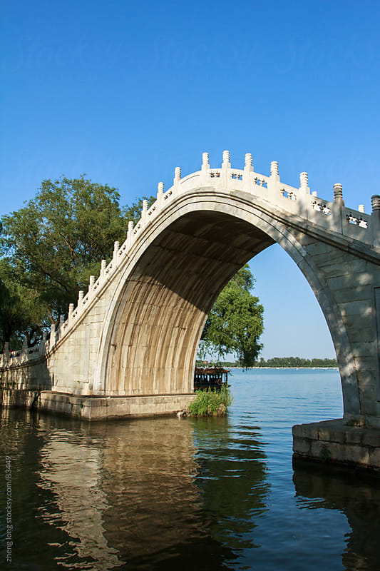 Marble arch in summer palace by zheng long for Stocksy United