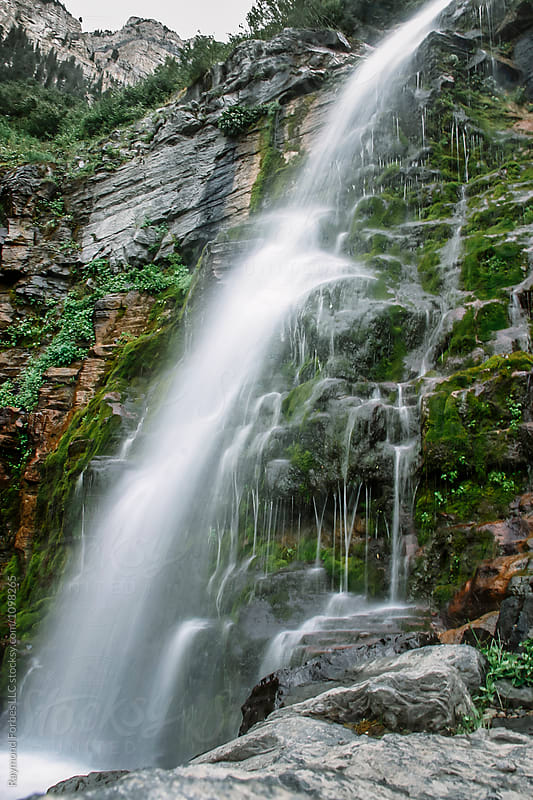 Backcountry Waterfall by Raymond Forbes LLC for Stocksy United