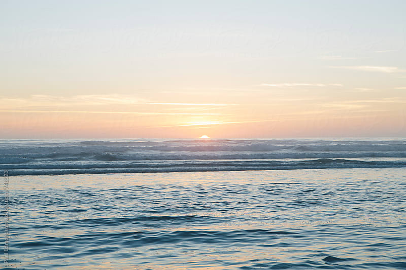Sunset over Pacific Ocean by Paul Edmondson for Stocksy United