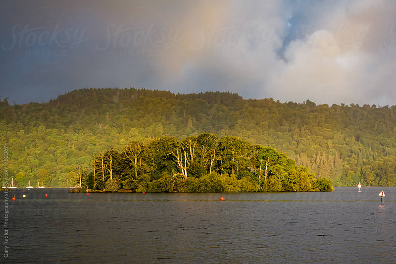 Island on Lake Windermere at Bowness-on-Windermere by Gary Radler Photography for Stocksy United