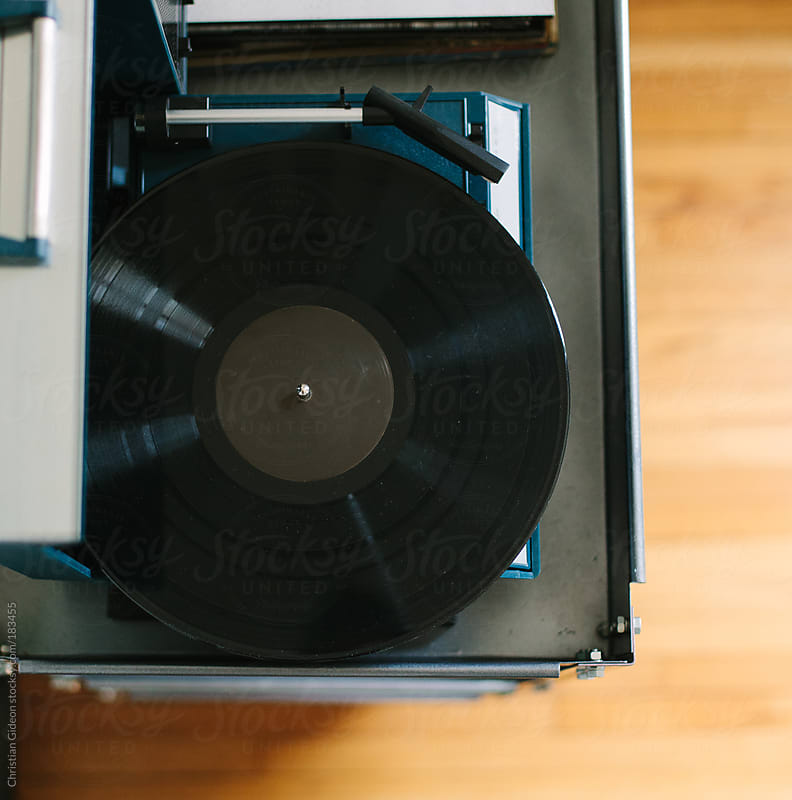 Record Player from above by Christian Gideon for Stocksy United