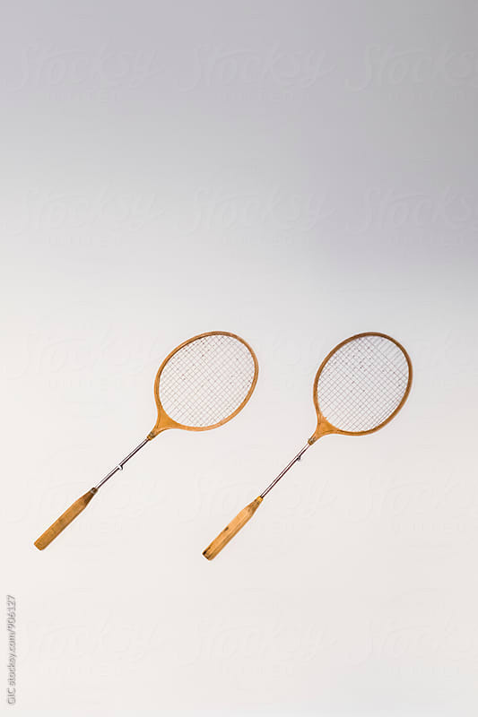 Tennis racquets on the wall by Simone Becchetti for Stocksy United