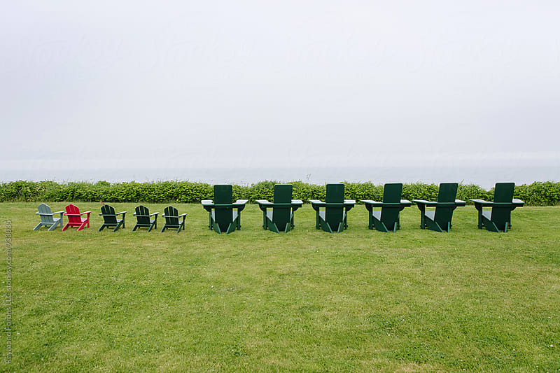 Adirondack Chairs on Nantucket Island by Raymond Forbes LLC for Stocksy United