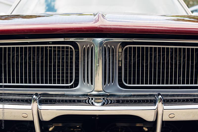 Close up of a retro American car by Gabriel (Gabi) Bucataru for Stocksy United