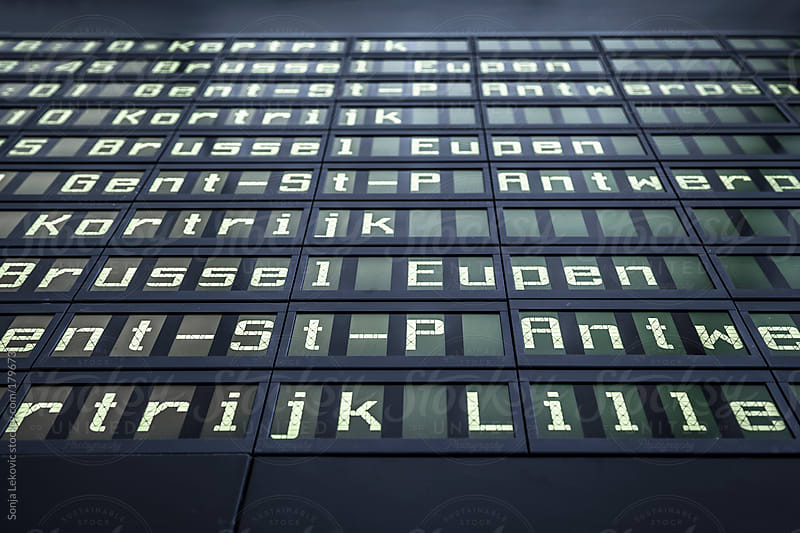 display board with letters by Sonja Lekovic for Stocksy United
