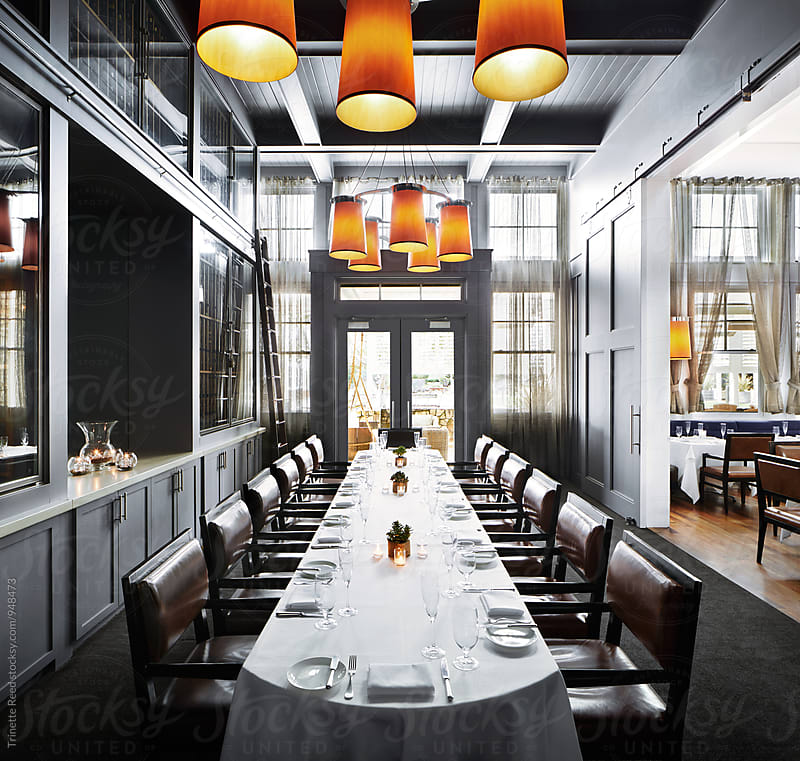 Private Dining Room in Fancy Restaurant by Trinette Reed for Stocksy United
