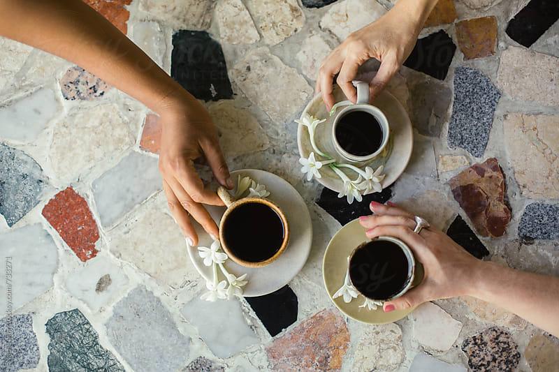 Organic Java coffee in handmade ceramic tea cup by Nabi Tang for Stocksy United