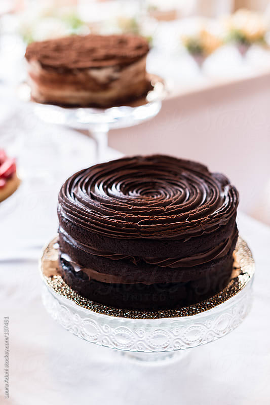 double chocolate cake by Laura Adani for Stocksy United