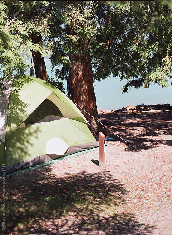 camping tent by Kirill Bordon photography for Stocksy United