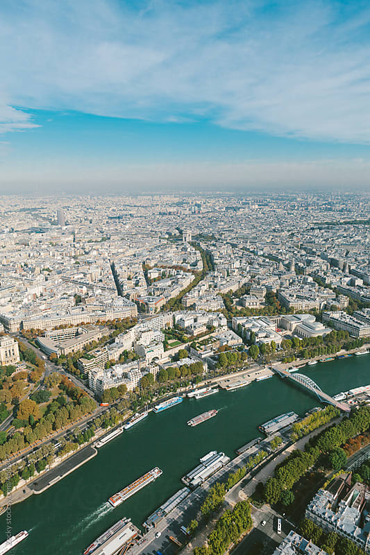 Paris from Eiffel tower by Zocky for Stocksy United