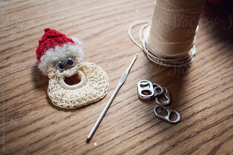 Handmade crocheted Christmas ornaments by anya brewley schultheiss for Stocksy United