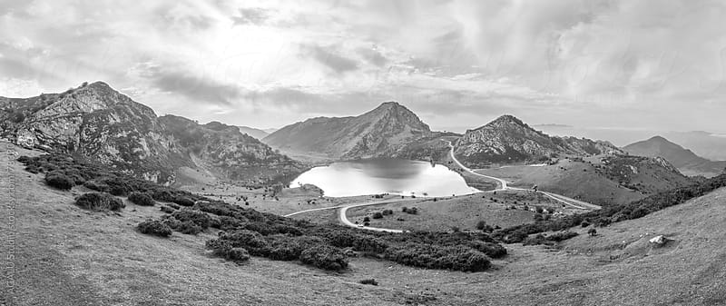 Lake of Covadonga B&W by ACALU Studio for Stocksy United