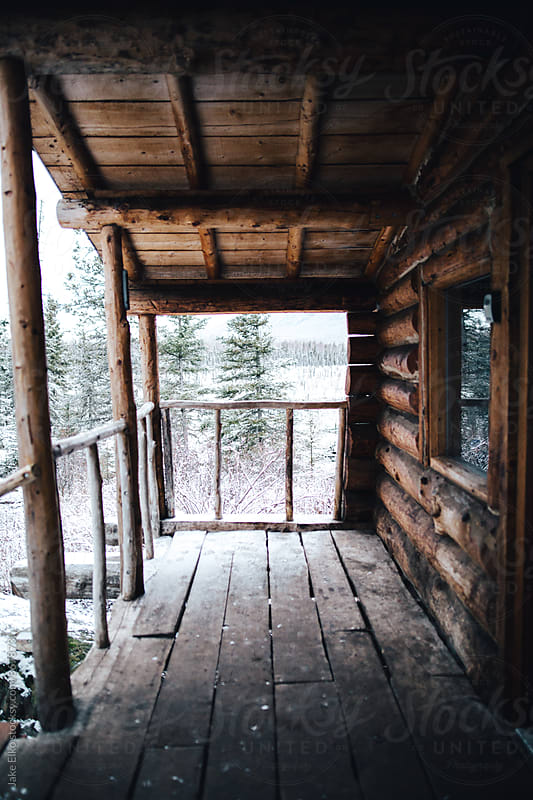 Cabin Porch Deck View by Jake Elko for Stocksy United