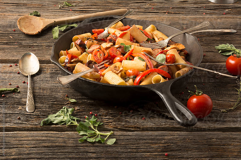 Rigatoni With Sausage and Peppers  by Studio Six for Stocksy United