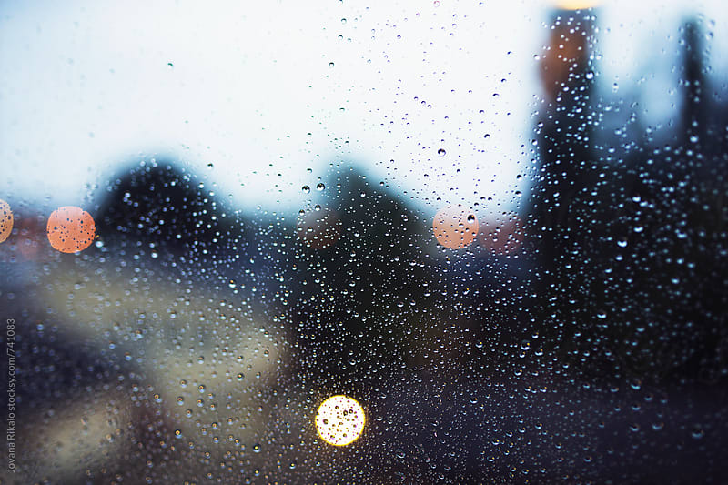 Rain drops on window by Jovana Rikalo for Stocksy United