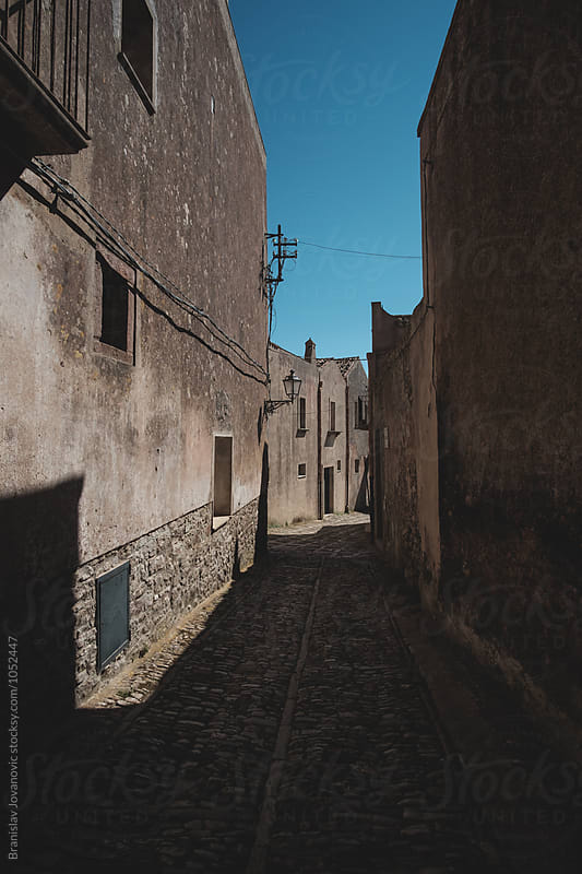 Narrow streets of a historic town Erice by Brkati Krokodil for Stocksy United