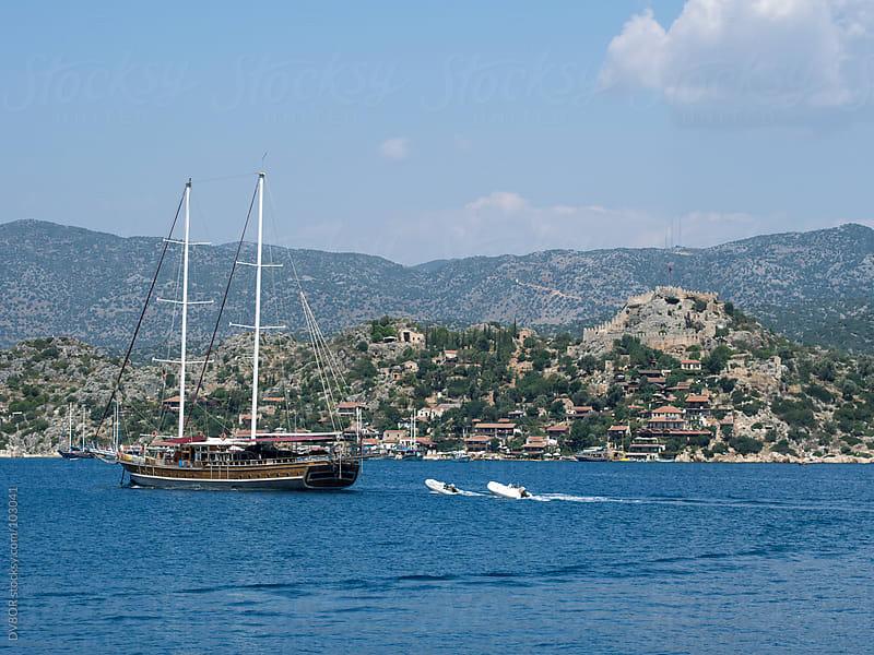 Byzantine Castle at Simena, Kalekoy, Kas,Turkey by DV8OR for Stocksy United